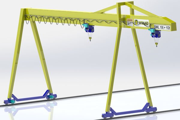 single girder gantry crane high quality