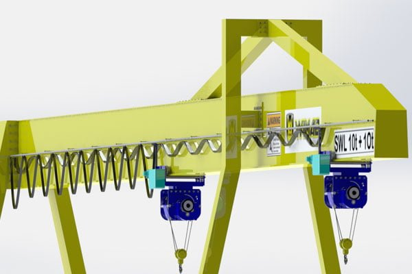 single girder gantry crane types