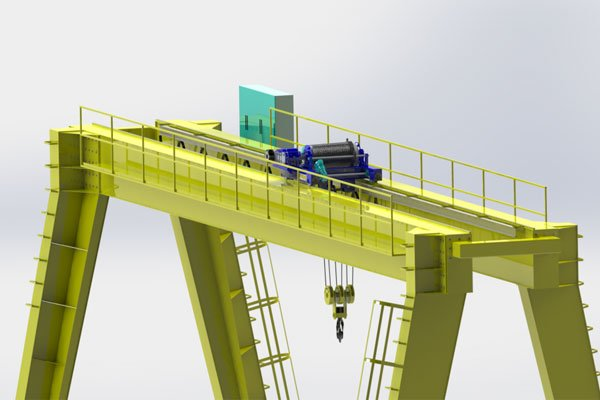 unledged gantry crane high quality